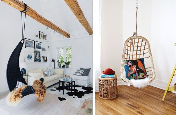 Sillas colgantes un elemento distintivo en tu hogar