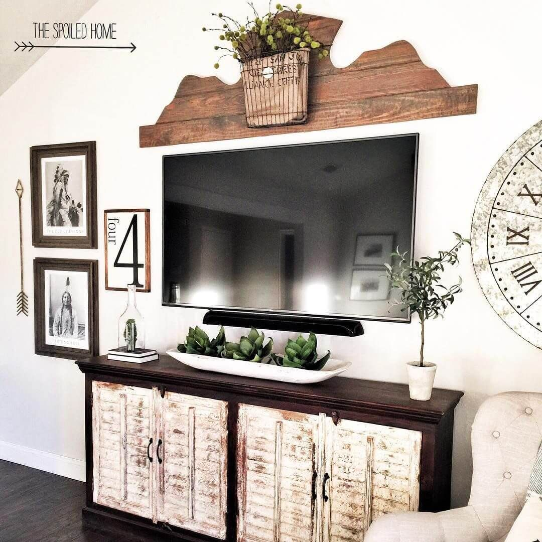 33 Charming Rustic Living Room Wall Decor Ideas For A Fabulous Relaxing Space Wall Decor Living Room Rustic Farm House Living Room Rustic Living Room