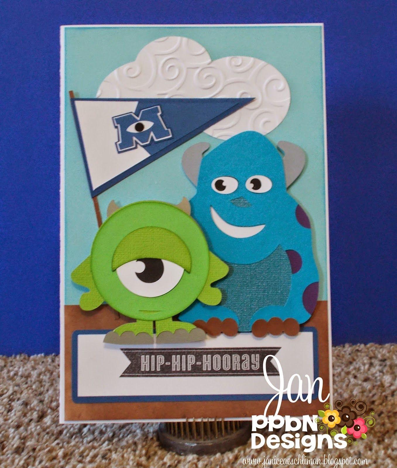 Craft Place Monster Cards Disney Birthday Card Disney Cards