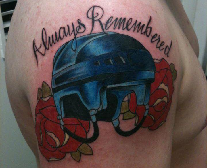 Pin By My Info On Tattoo Helmet Tattoo Hockey Helmet Tattoos