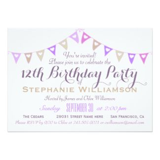 Cool FREE Template 12 Year Old Birthday Invitations