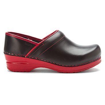 Sanita Flexible Closed-Back Xarea | Men's - Black Leather/Red Sole - FREE