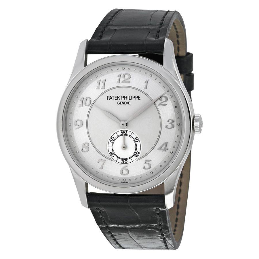 Patek Philippe Calatrava Automatic Silver Grey Dial Platinum Men's Watch 5196P-001 - Calatrava - Patek Philippe - Shop Watches by Brand - Jomashop