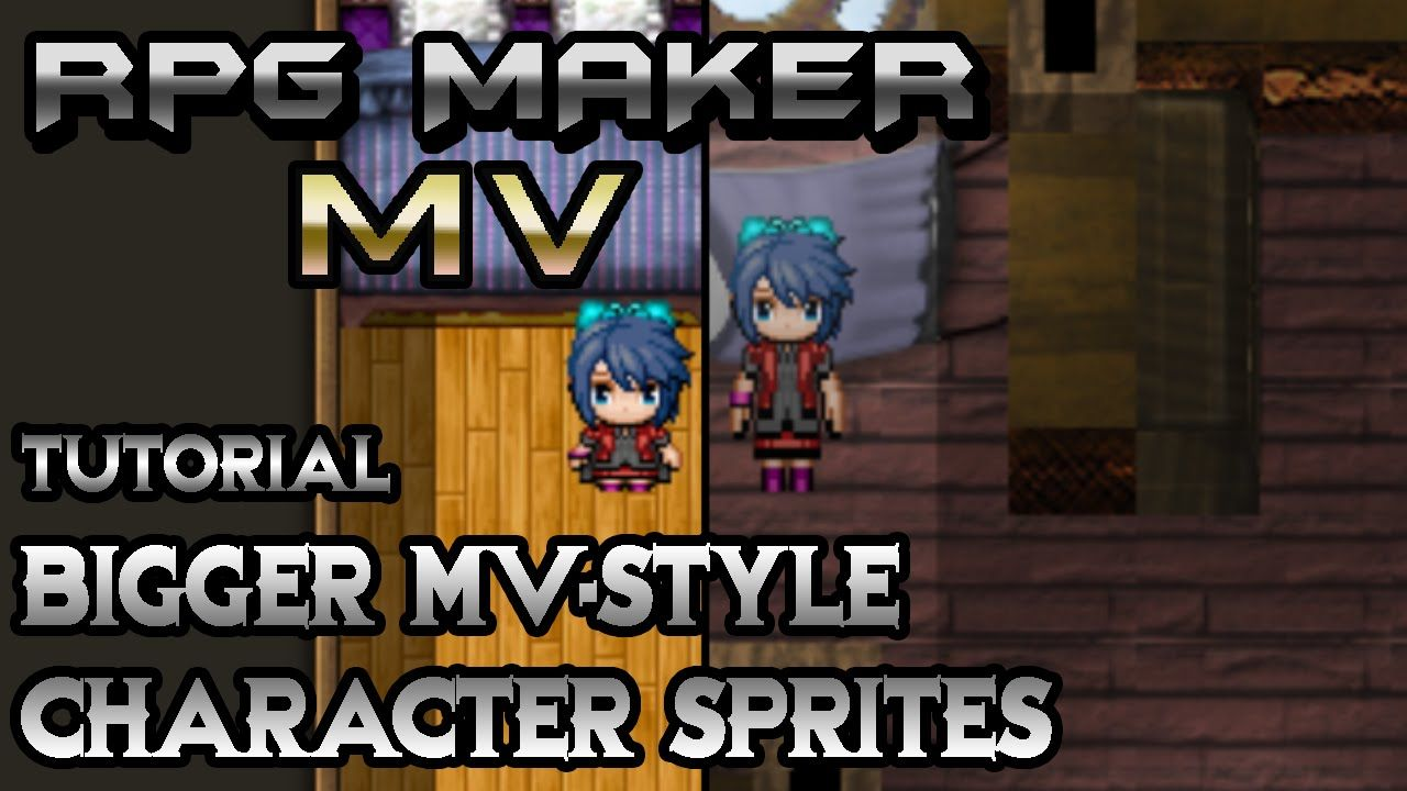 RPG Maker MV Tutorial: Bigger MV-Styled Character Sprites! | Game