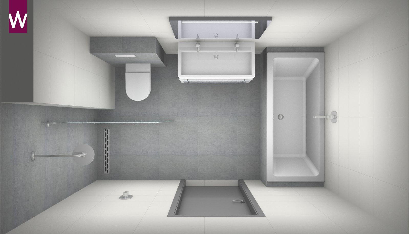 Badkamer ontwerpen? | Small bathroom, Bathroom plans and Bathroom ...