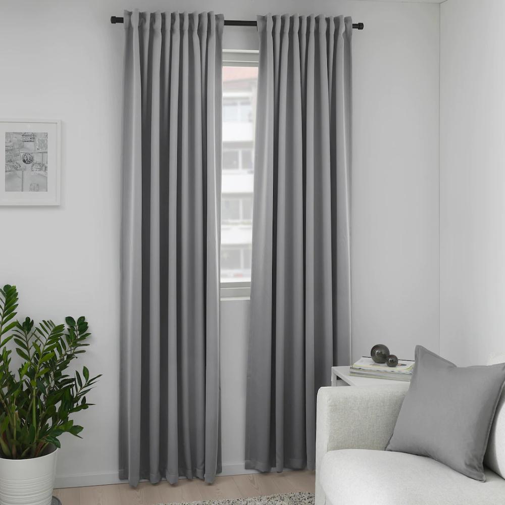 Majgull Blackout Curtains 1 Pair Gray 57x98 In 2020 Block