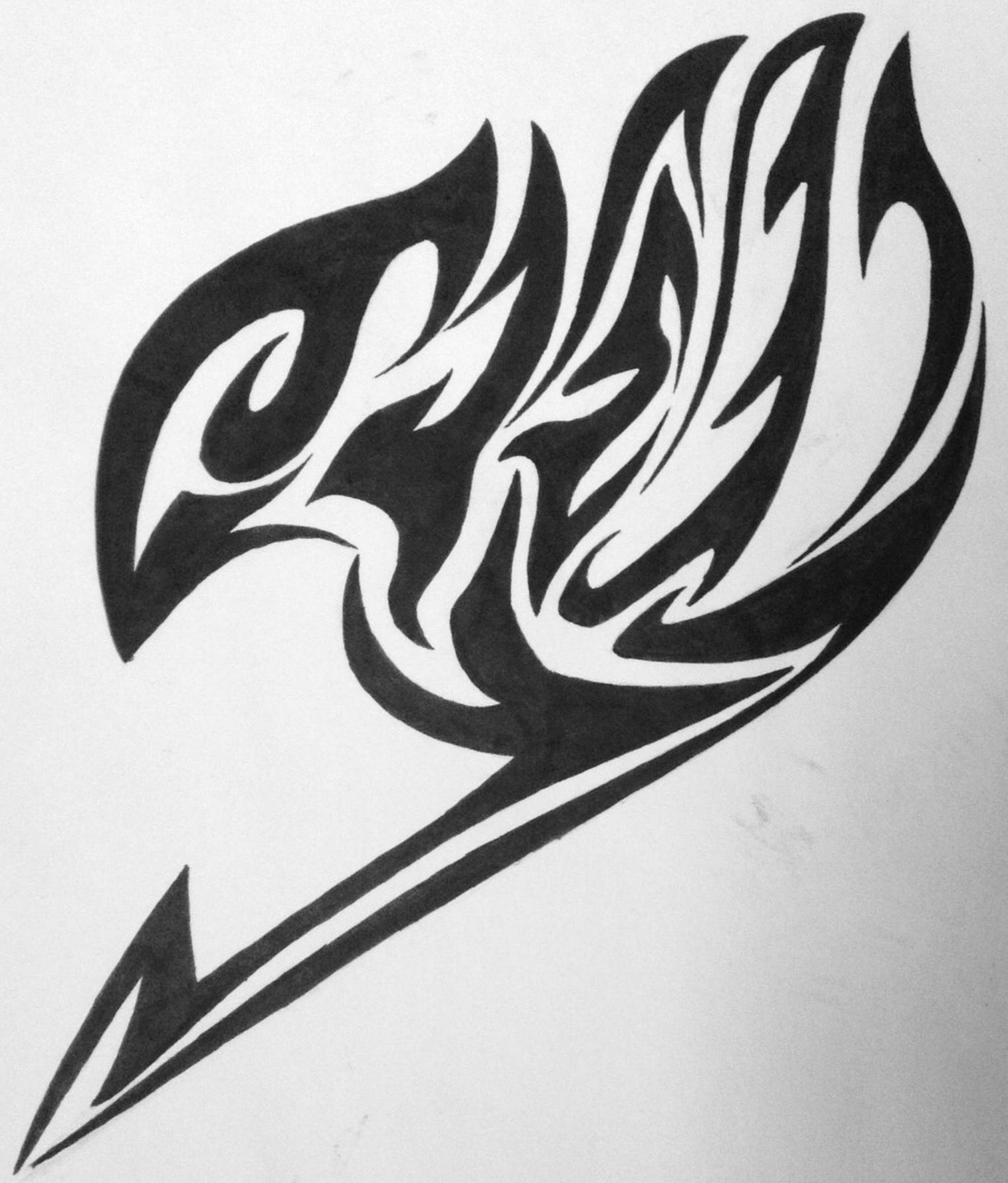 Anime Tattoos, Nerdy Tattoos, Tribal Tattoos, Fairy Tail Tattoo, Tattoo