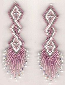 Double Helix Earrings Sova Enterprises Beaded Earrings Tutorials Bead Work Jewelry Earring Patterns