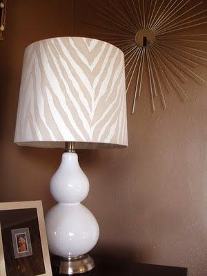 Diy Zebra Print Lamp Painting Lamp Shades Shabby Chic Lamp