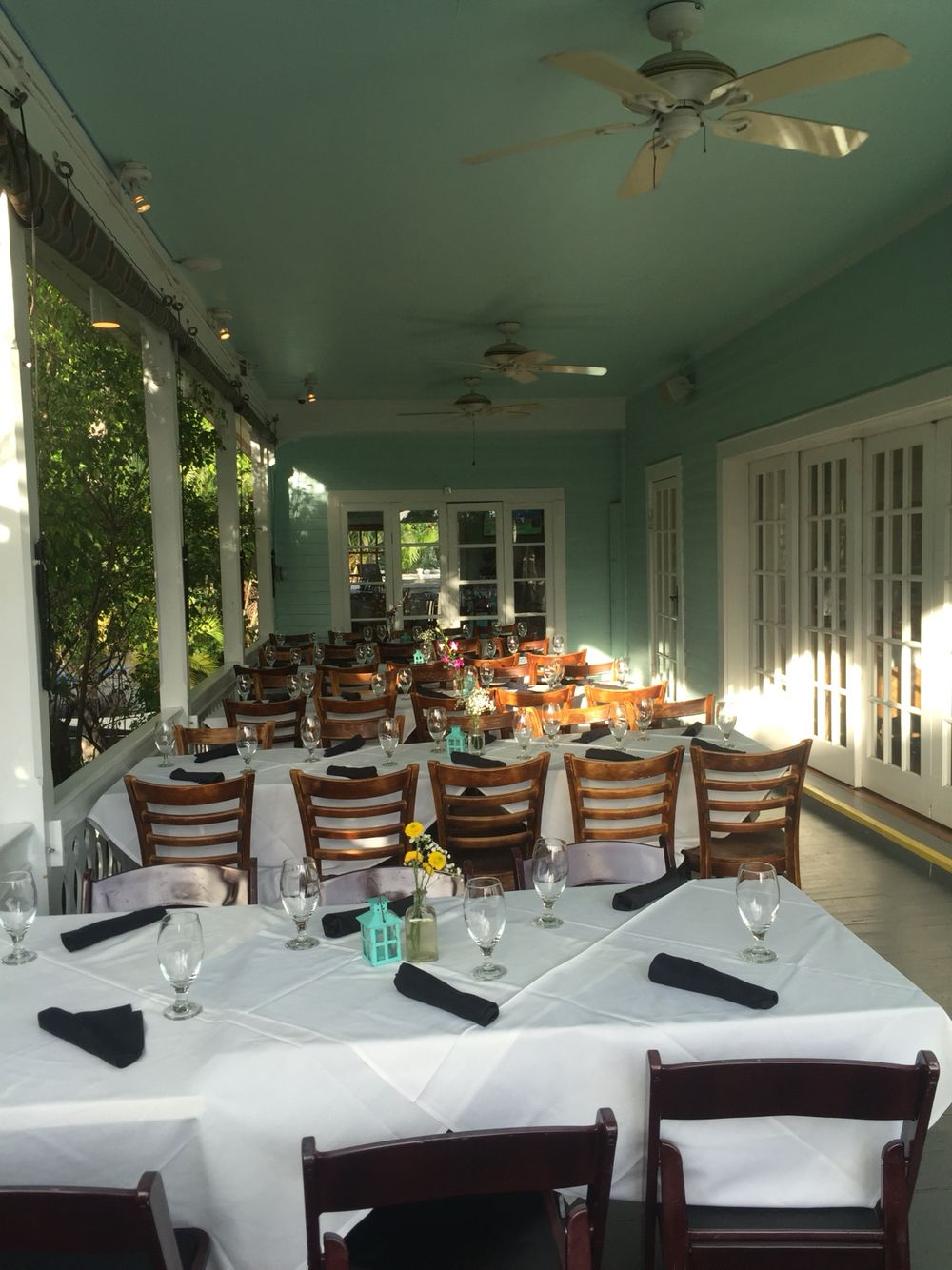 Large Party Seating On The Balcony At Bagatelle Key West Bagatelle