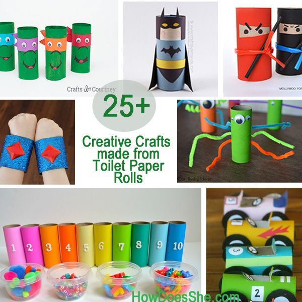 25 Creative Crafts Made From Toilet Paper Rolls How Does She