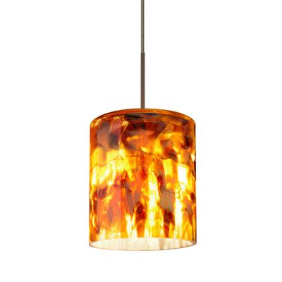Besa Lighting Falla 1 Light Mini Pendant Finish: Brushed Bronze