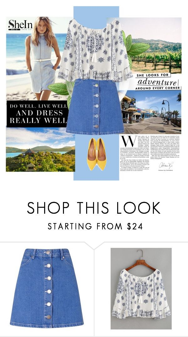 """""""Shein"""" by brigitte-klaudia ❤ liked on Polyvore featuring Levi's, Miss Selfridge, WithChic, Moda In Pelle and Kate Spade"""