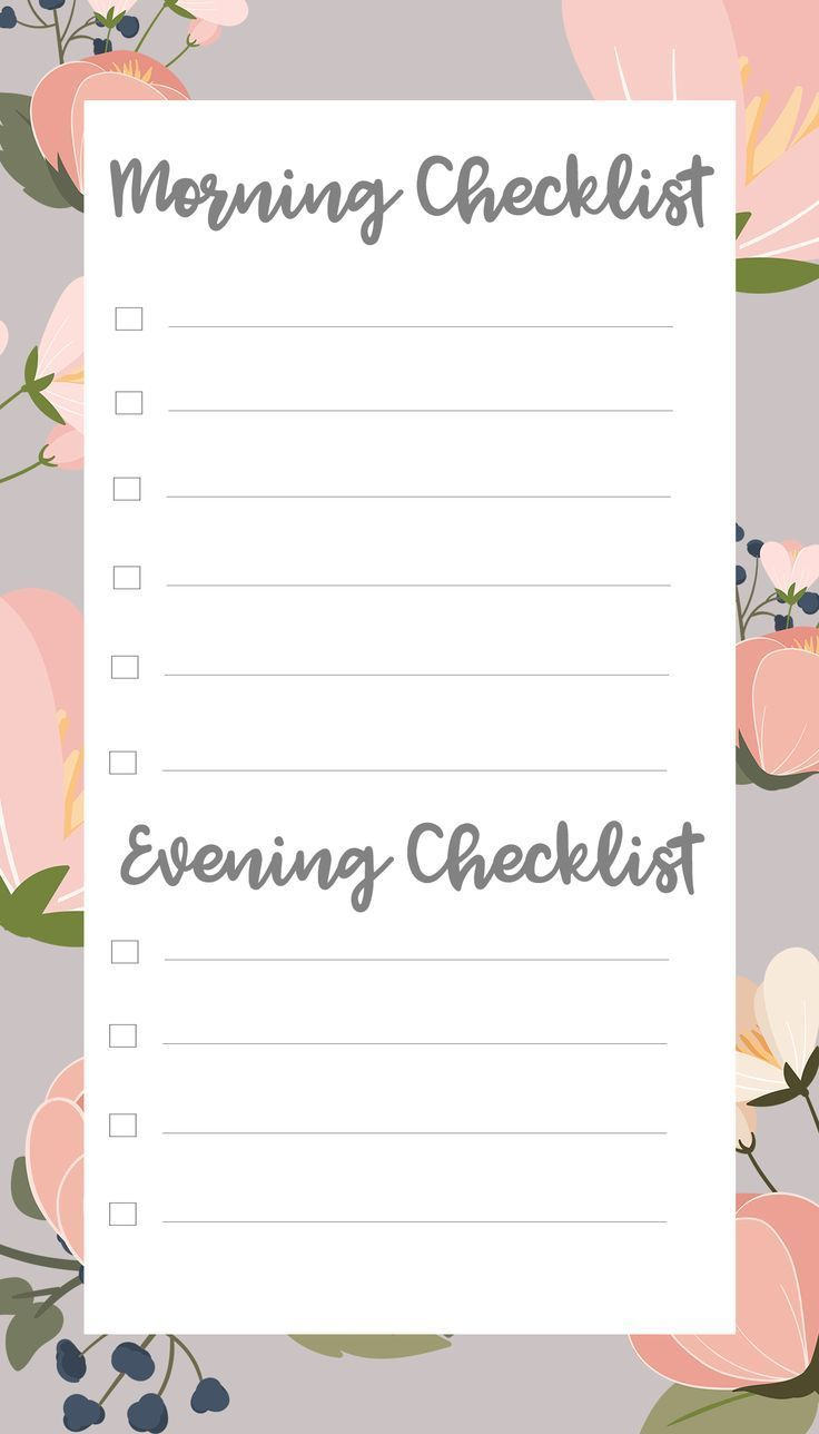 It's just a photo of Gutsy Morning Routine Checklist Printable