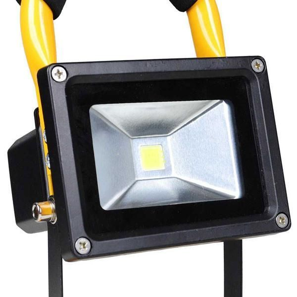 10w portable rechargeable led flood light yellow in 2018 products