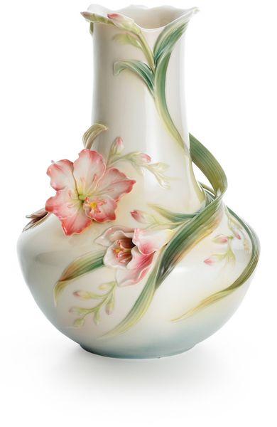 Franz Vase Beautiful Pink Flower Vase Flower Vases Ceramic Vases Design Purple Vase Decor