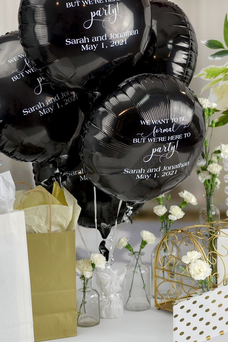 Round Mylar Balloons Personalized | My Wedding Reception Ideas