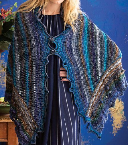 Colorful Shawl Knitting Patterns | janette.64 | Pinterest