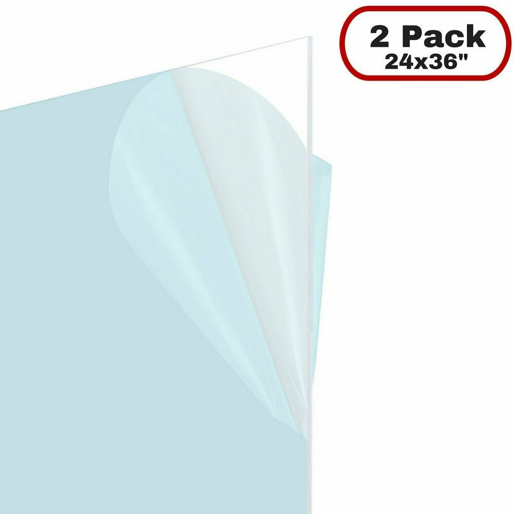 Icona Bay Pet Replacement For Picture Frame Glass 24 X 36 2 Pack Pet Is Ideal Fashion Home Ga Clear Plastic Sheets Plastic Sheets White Picture Frame Set