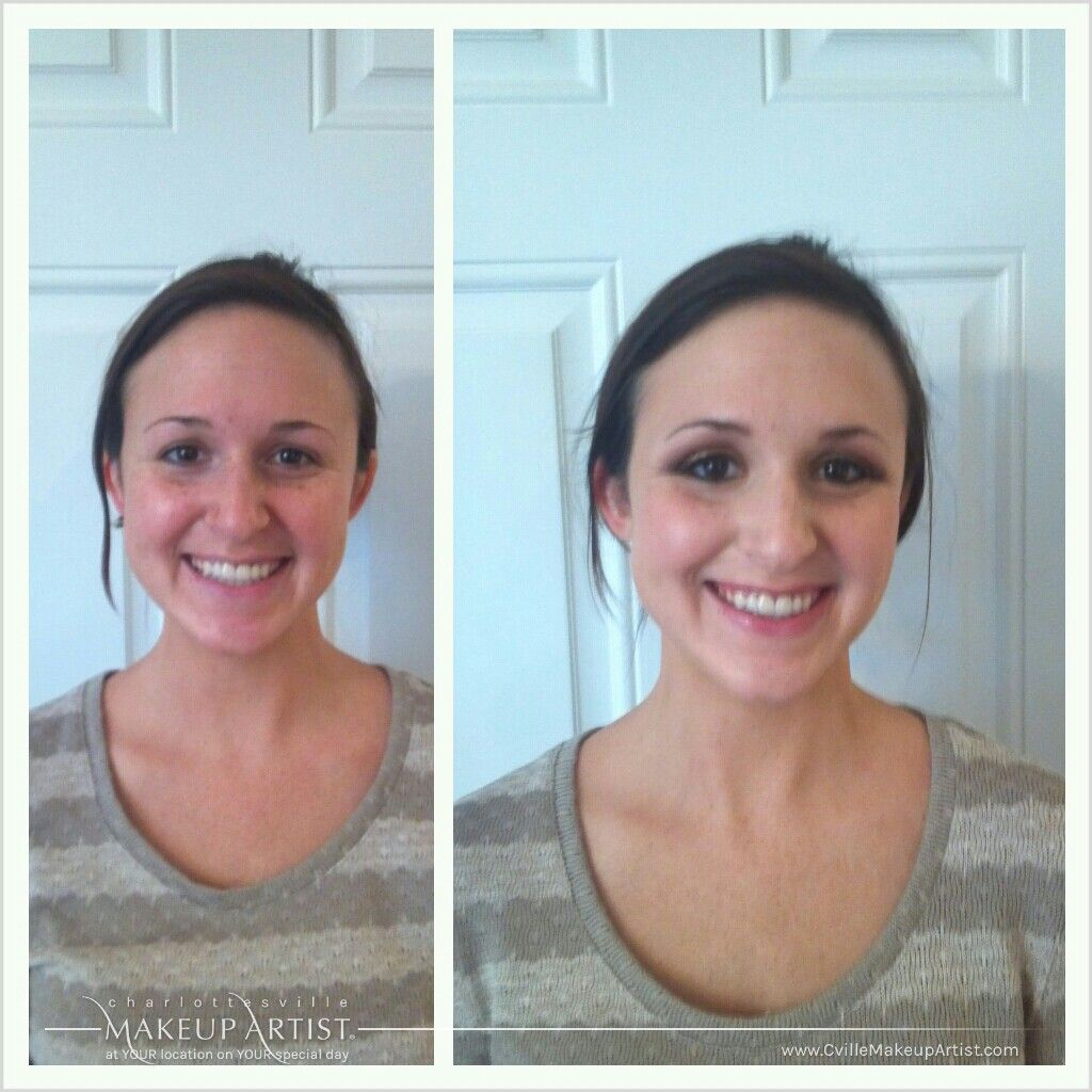before and after - wedding hair and makeup trial in
