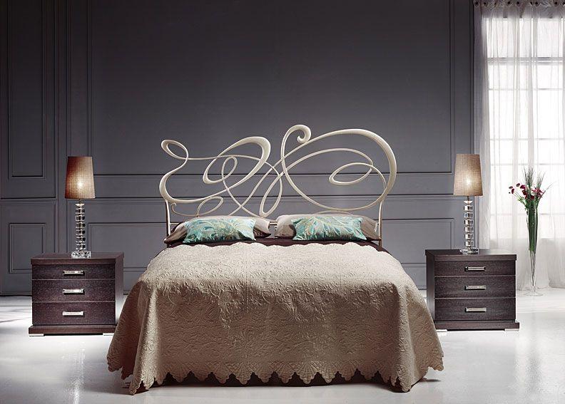 Dormitorio forja paladio vision material forja o hierro - Cabeceros de hierro ...