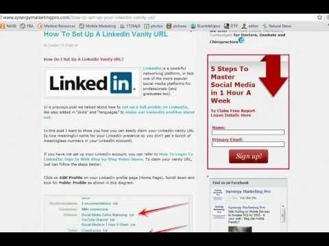 Get Your Own Linkedin Address And Brand Your Online Presence Youtube Marketing Linkedin Social Media