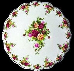 Royal Albert China - Old Country Roses Golden Pearl Cake Plate 2006-2007