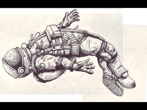 Realistic Astronaut Art | Astronaut - [time lapse drawing