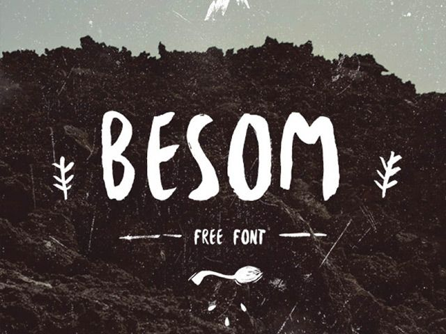Besom Free Font Free Watercolor Font Hipster Fonts Brush Font