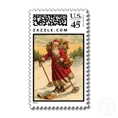 Santa postage stamps