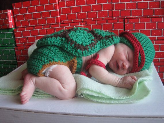 Crochet Teenage Mutant Ninja Turtle Inspired Baby by gammyshouse ...
