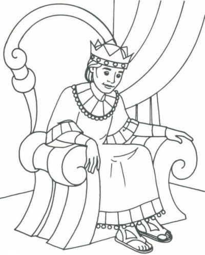 David Becomes King Coloring Page Sunday School Coloring Pages