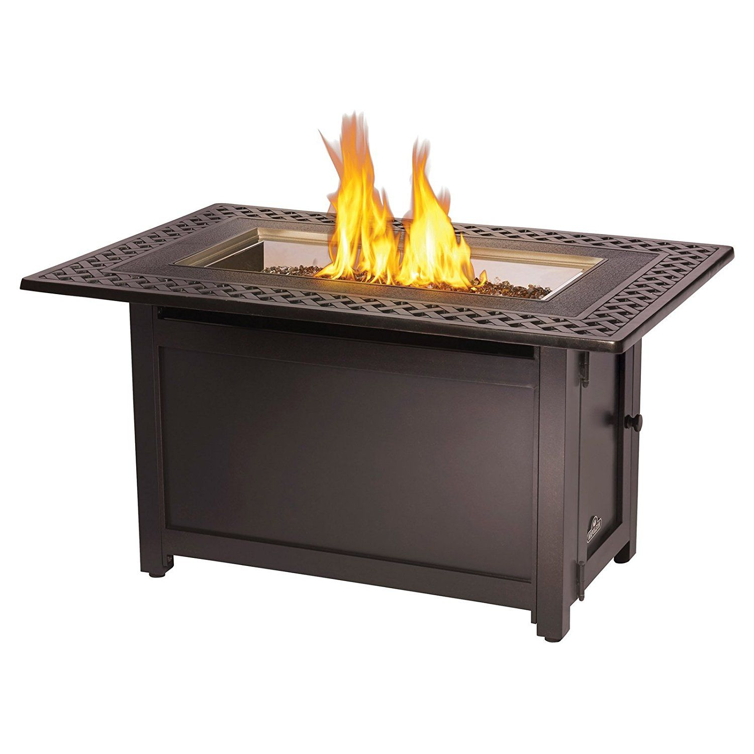napoleon victorian rectangle patioflame gas fire pit table fire