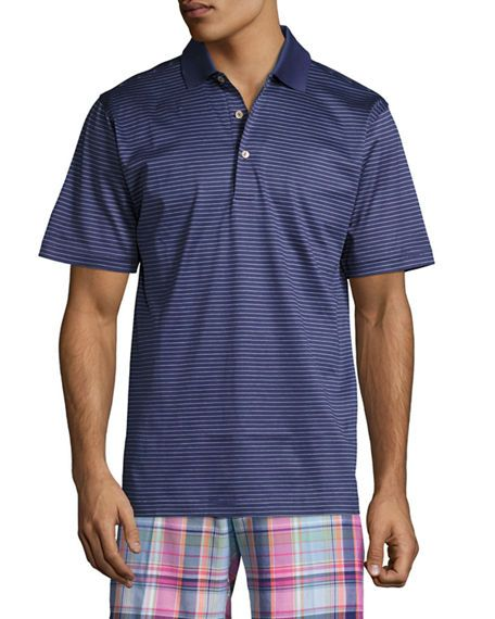 10f41f21f73e Peter Millar SUBCONSCIOUS STRIPED LISLE KNIT POLO SHIRT.  petermillar   cloth