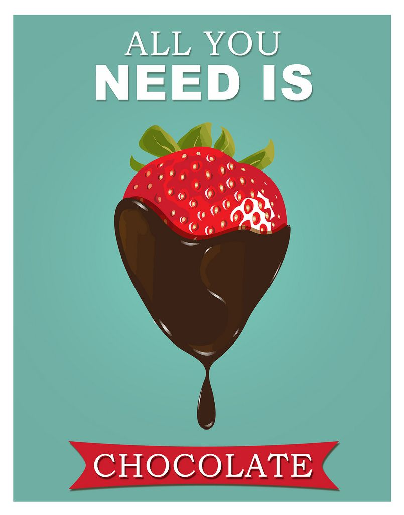 All you need is chocolate   kitchen posters   Pinterest