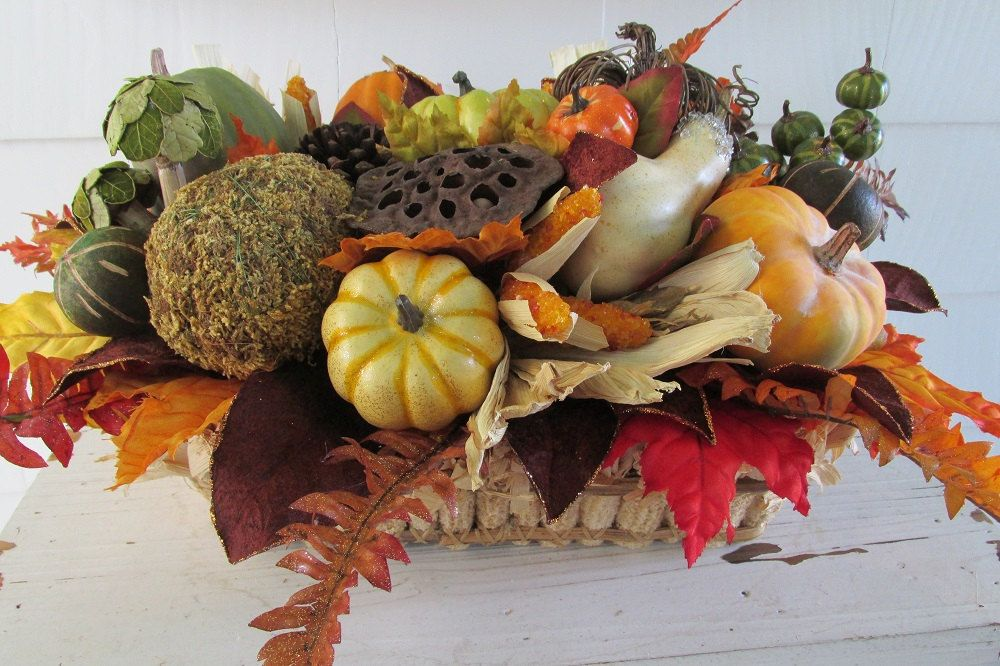 Thanksgiving Centerpiece, Autumn Centerpiece, Fall Centerpiece, Thanksgiving Table Décor, Autumn Décor, Fall Décor, New England Rustic Decor by SilvaLiningDesigns on Etsy