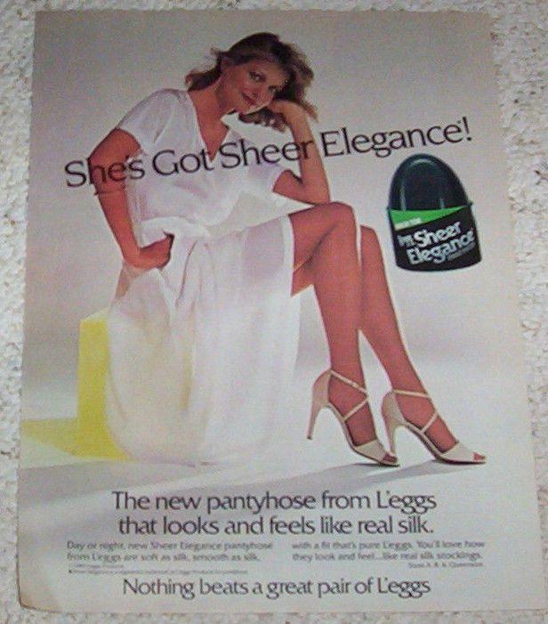 9bf72cd9b 1981 ad page - L eggs Sheer Elegance Pantyhose SEXY GIRL legs hosiery  vintage AD  Leggspantyhose