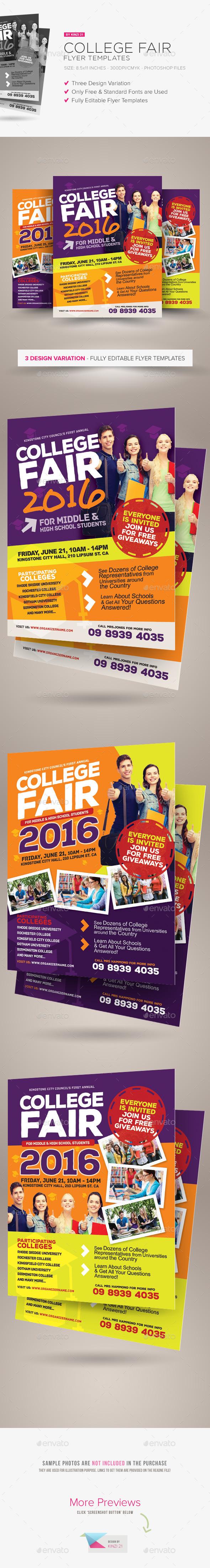 college fair flyer templates flyers flyer template and colleges college fair flyer templates