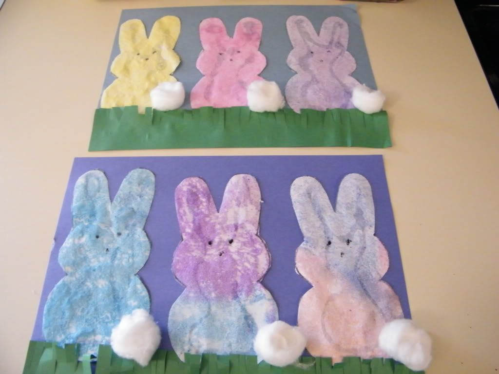 Easter arts and crafts ideas for children - Salt Paint Peeps I Love Peeps Could Probably Take Reall Artists In The Easter Peepseaster Artspring Art Projectsspring Craftssalt Paintingfun