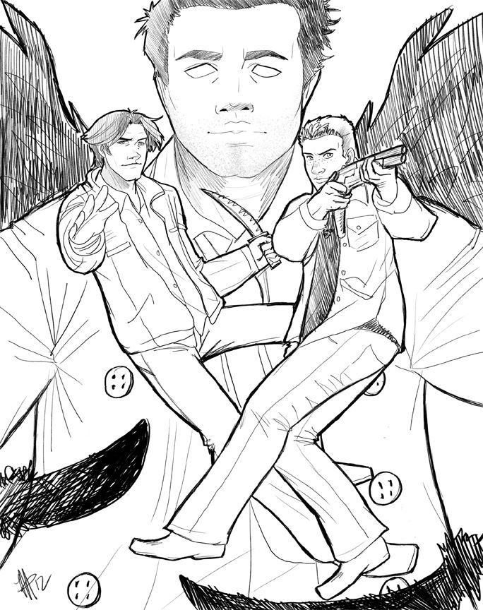 Supernatural Coloring Pages Supernatural Sketch By