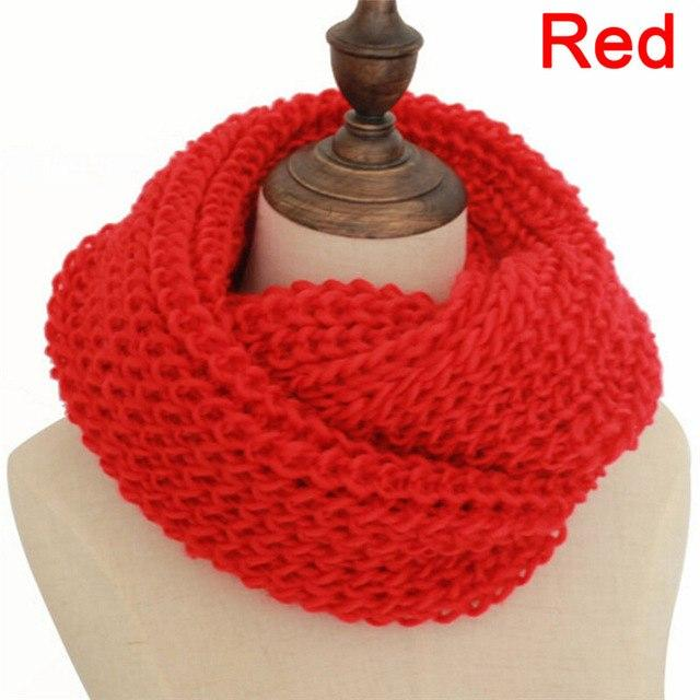 Unisex Winter Knitted Scarves Collar Neck Warmer Woman'S Crochet Ring Loop Women Scarves Gifts Lady 9 Colors #mensscarves