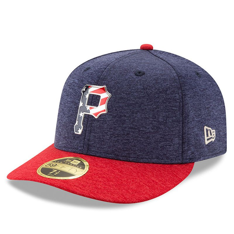 low priced e08df 1b256 Pittsburgh Pirates New Era 2017 Stars and Stripes Low Profile 59FIFTY  Fitted Hat - Heathered Navy Heathered Red