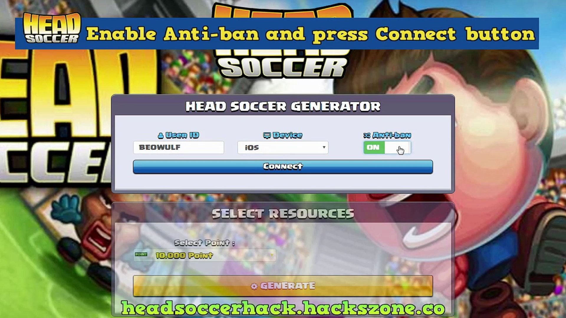 Head Soccer Hack Tool Unlimited Free Points Generator Android Ios Head Soccer Hack And Cheats Head Soccer Hack 2020 U In 2020 Head Soccer Game Cheats Generation