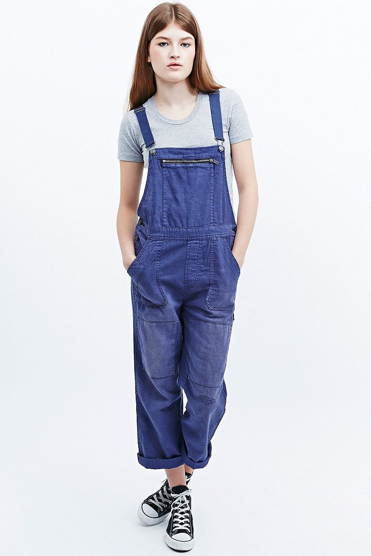 6bd950206765 BDG French Workwear Overalls in Blue - Urban Outfitters