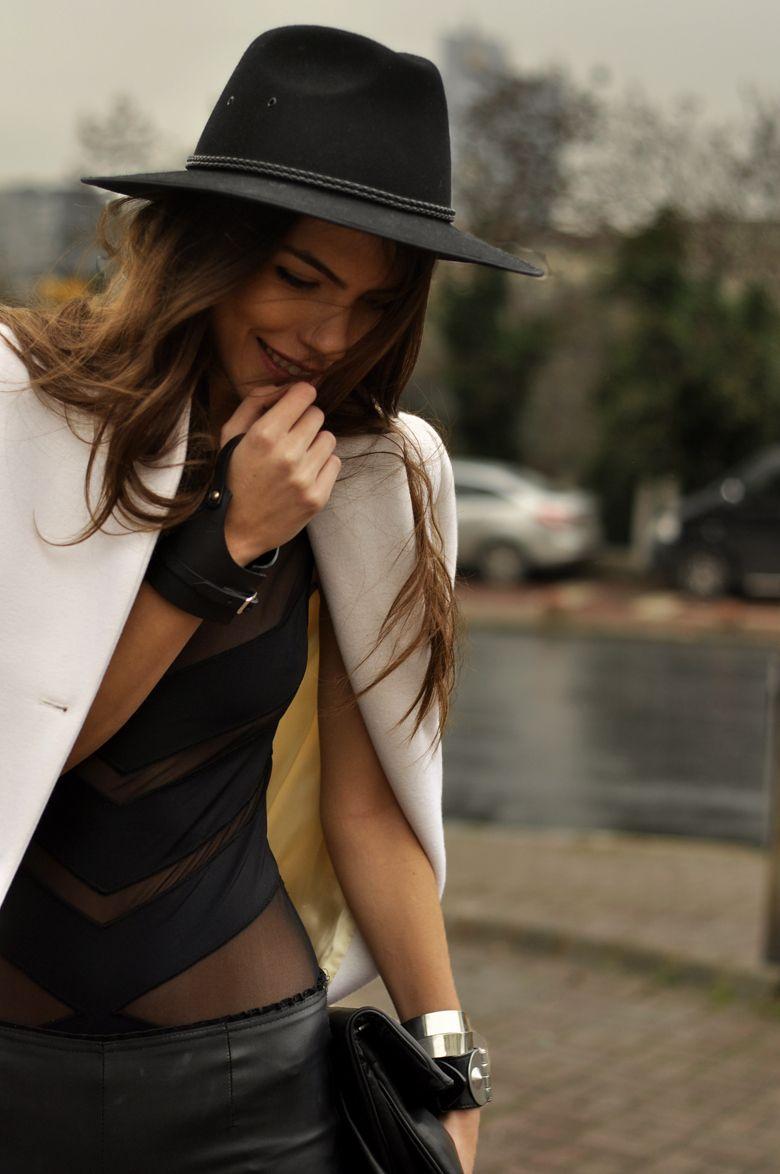Styled mesh bodysuit, love!