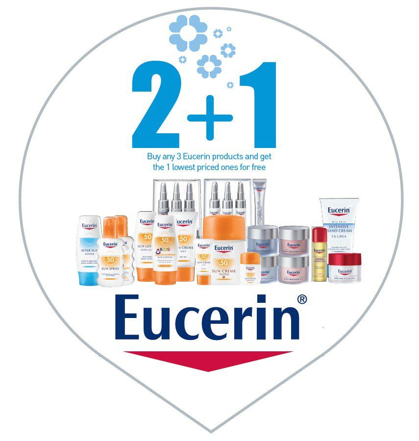Summer 2+1 Offers on Eucerin Beauty Care Products. Shop