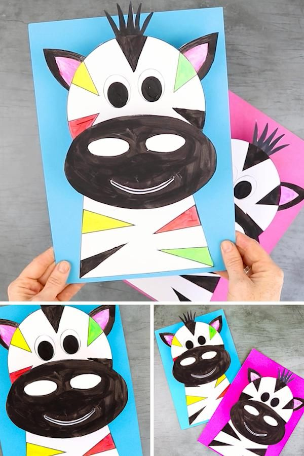 3D Zebra Craft for Kids