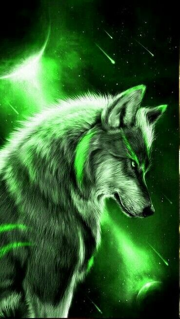 Green Wolf Animal Wallpaper Pinterest Lobos Hombres Lobo And