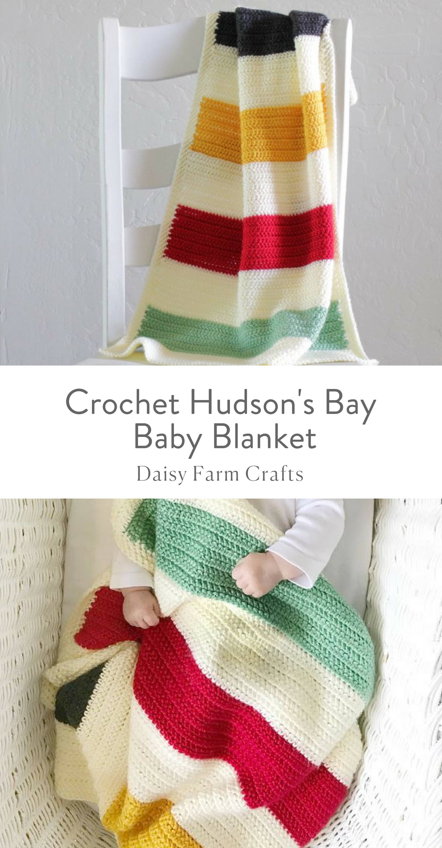 Free Pattern - Crochet Hudson\'s Bay Baby Blanket | Crafts ...