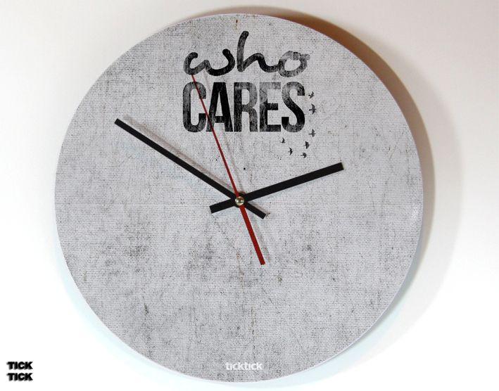 ticktick Design Wanduhr Who Cares Clocks - wanduhr für küche